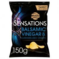 Image of BLACK FRIDAY SPECIAL Walkers Sensations Balsamic Vinegar and Caramelised Onion Sharing Crisps 150g
