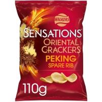 Image of WEEKLY DEAL Walkers Sensations Peking Spare Rib Oriental Crackers Sharing Bag 110g
