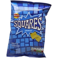 Image of TODAY ONLY Walkers Squares Salt and Vinegar Potato Snacks 27.5 g