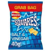 Image of SUNDAY SPECIAL Walkers Squares Salt and Vinegar Potato Snacks 40g