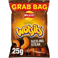 Image of Walkers Wotsits Sizzling Steak Grab Bags Snacks 25g