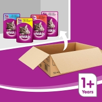 Image of WEEKLY DEAL Whiskas Wet Cat Food Pouch Lucky Dip 100g