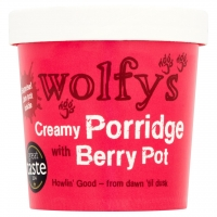 Image of Wolfys Creamy Porridge with Berry Pot 100g