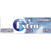 Image of Wrigleys Extra Ice Peppermint Sugarfree Gum with Microgranules 10 pieces