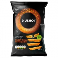 Image of Yushoi Sweet Chilli With Lemon Pea Snaps 105g