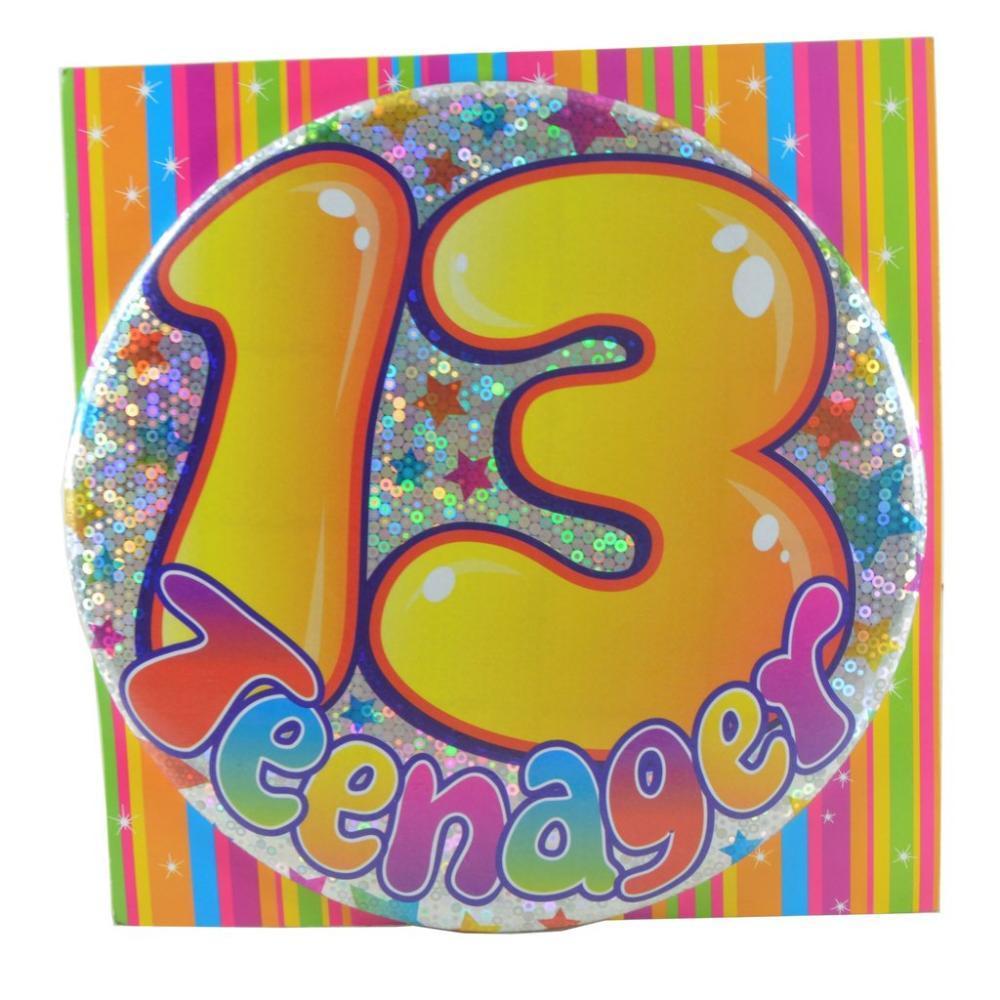 Large Badge 13 Teenager