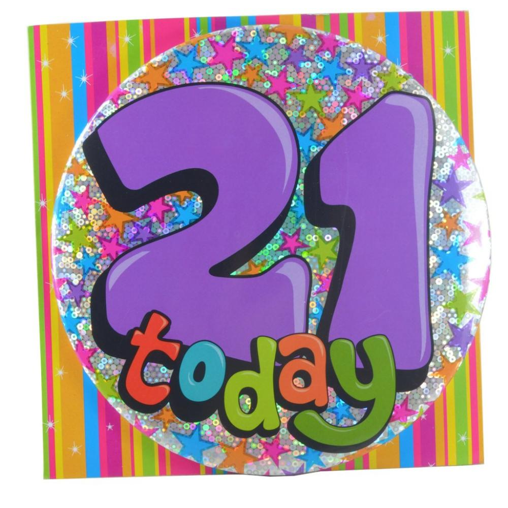 Large Badge 21 Today