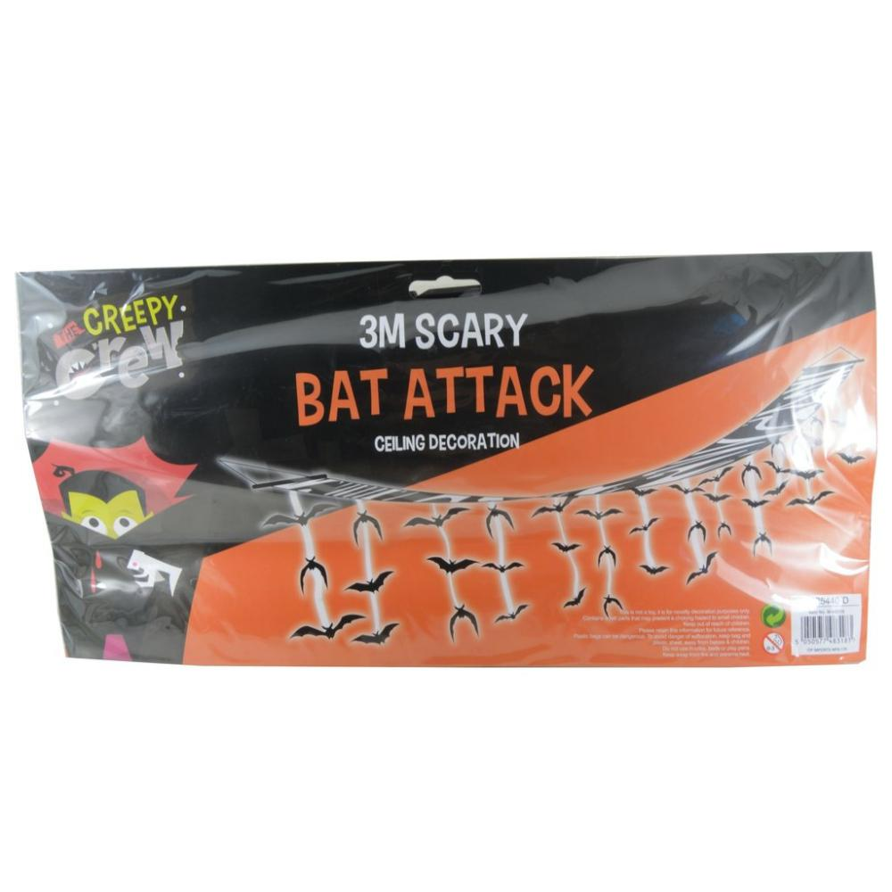 The Creepy Crew 3M Scary Bat Attack Ceiling Decoration