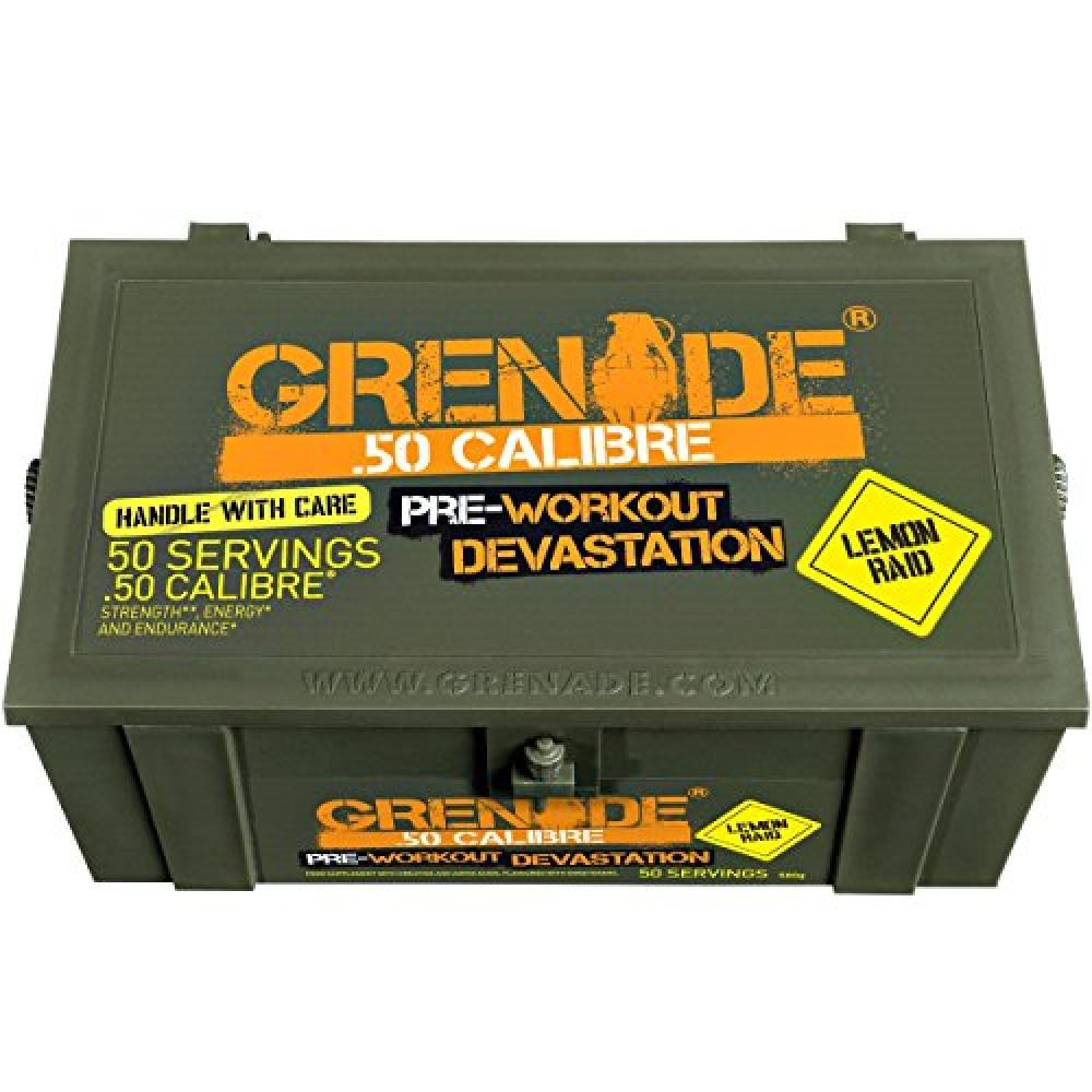 Grenade 50 Calibre Pre-Workout Lemon Raid - 50 Servings