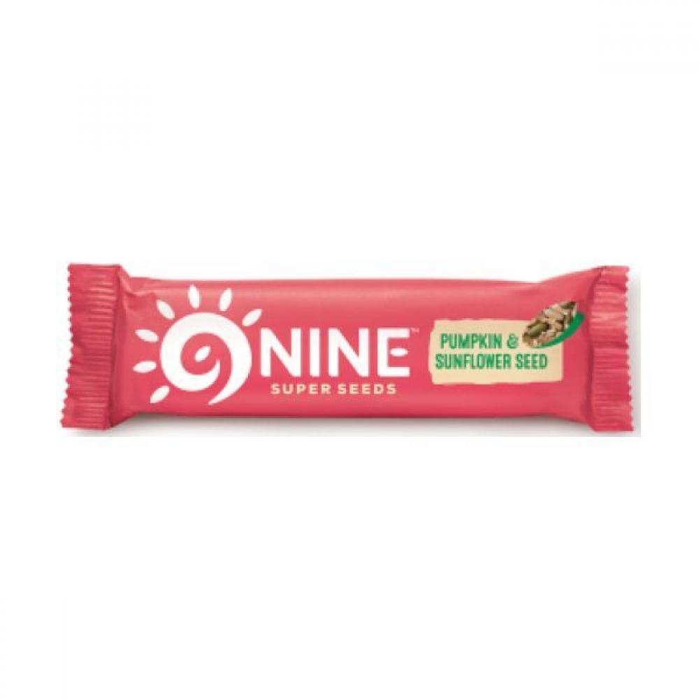 9Nine Super Seeds Pumpkin and Sunflower Seed Bar 40g