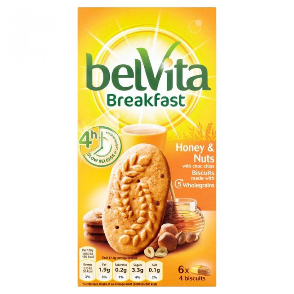 Belvita Breakfast Biscuits Honey and Nuts 6 x 50g