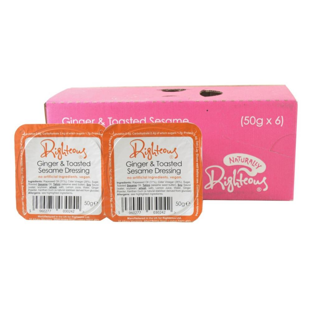CASE PRICE  Righteous CASE PRICE Righteous Ginger And Toasted Sesame Dressing 50g x 6 50g x 6