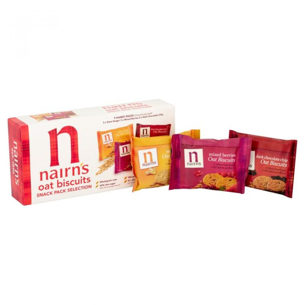 Nairns Oat Biscuits Snack Pack Selection 180g