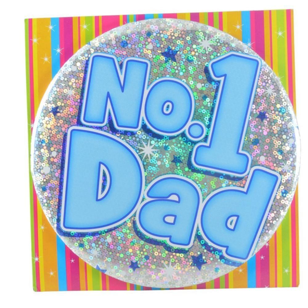 Large Badge No 1 Dad