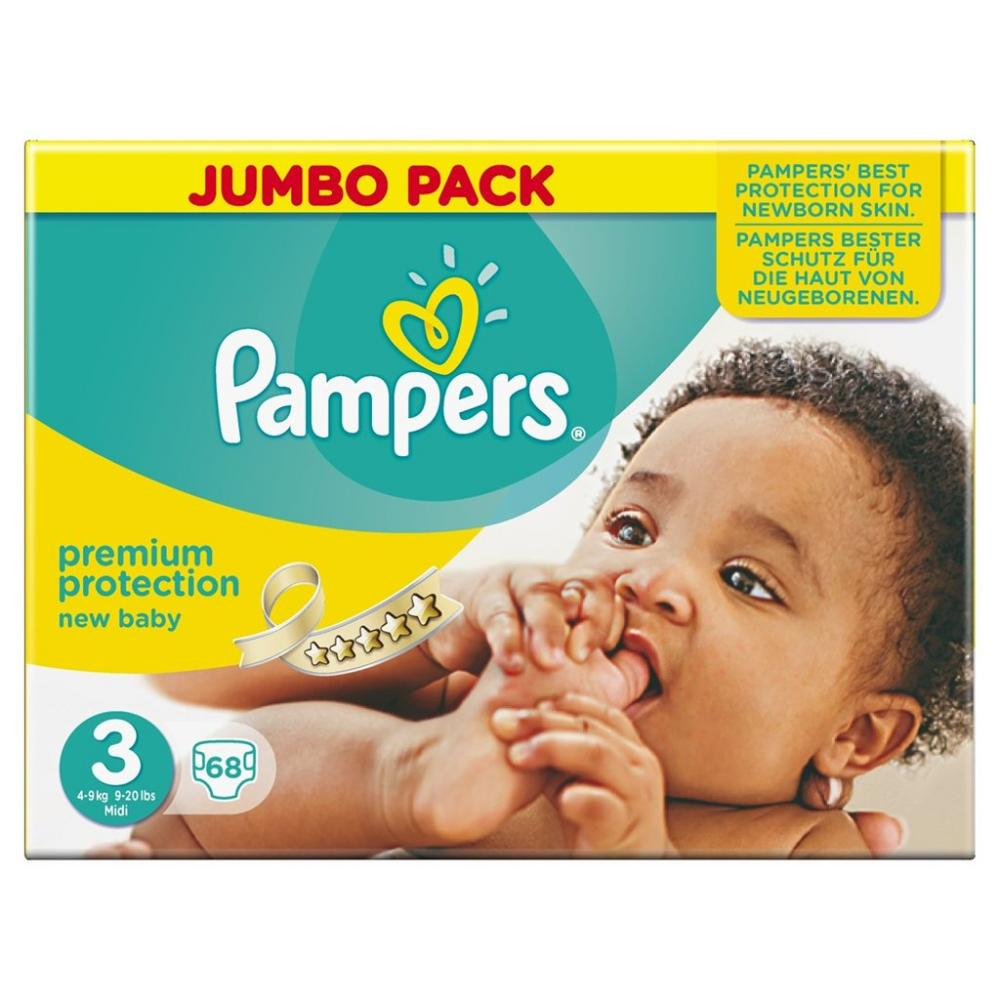 Pampers Premium Protection Nappies Size 3 68 Pack