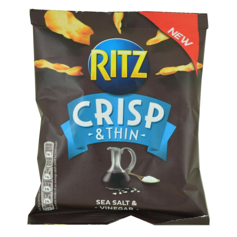 Ritz Crisp and Thin Sea Salt and Vinegar 30g