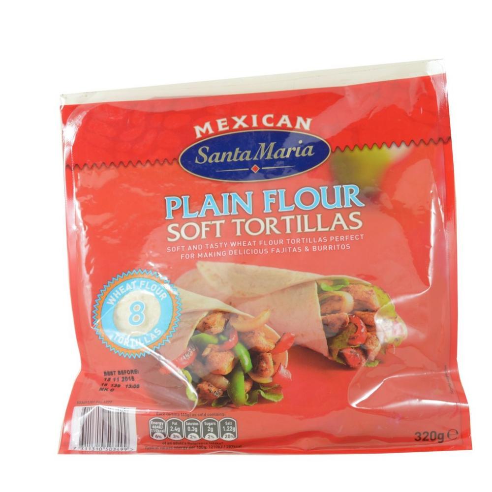 Santa Maria 8 Plain Flour Soft Tortillas 320g