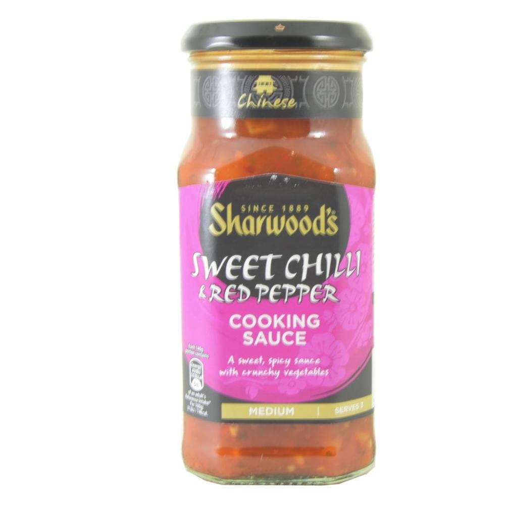 Sharwoods Sweet Chilli And Red Pepper Cooking Sauce 425g