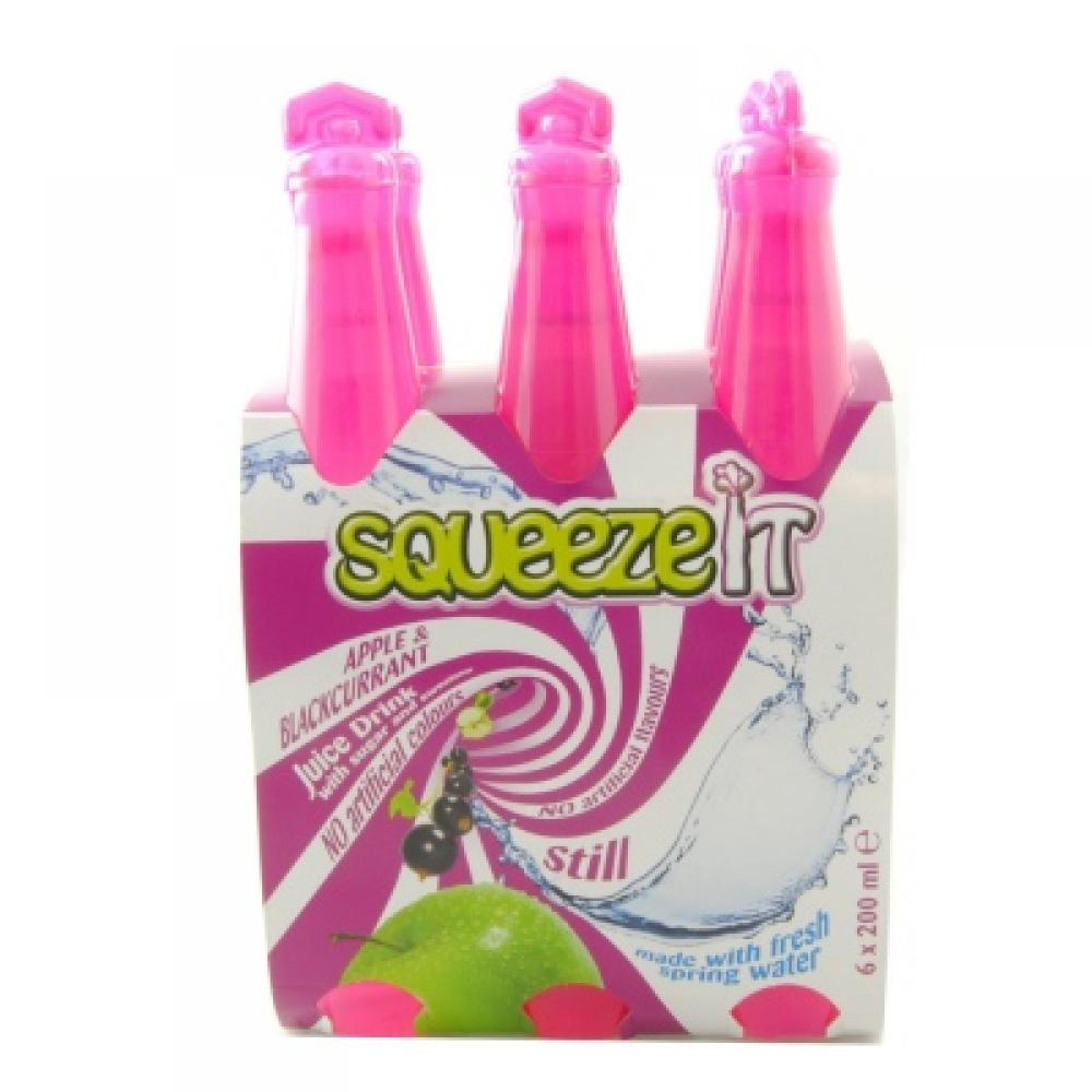 Squeeze It Apple and Blackcurrant Juice Drink 200ml x 6