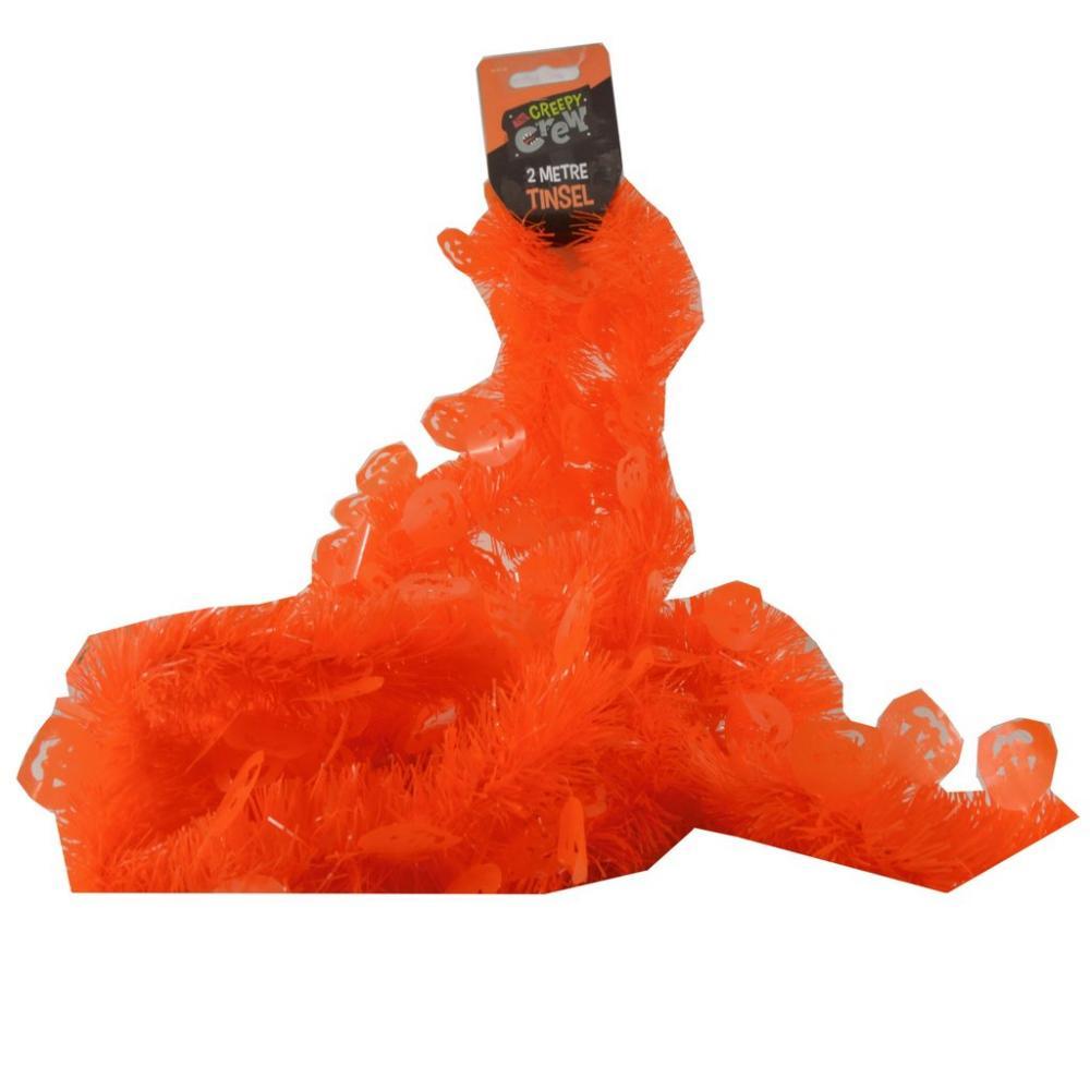 The Creepy Crew 2 Metre Tinsel Orange