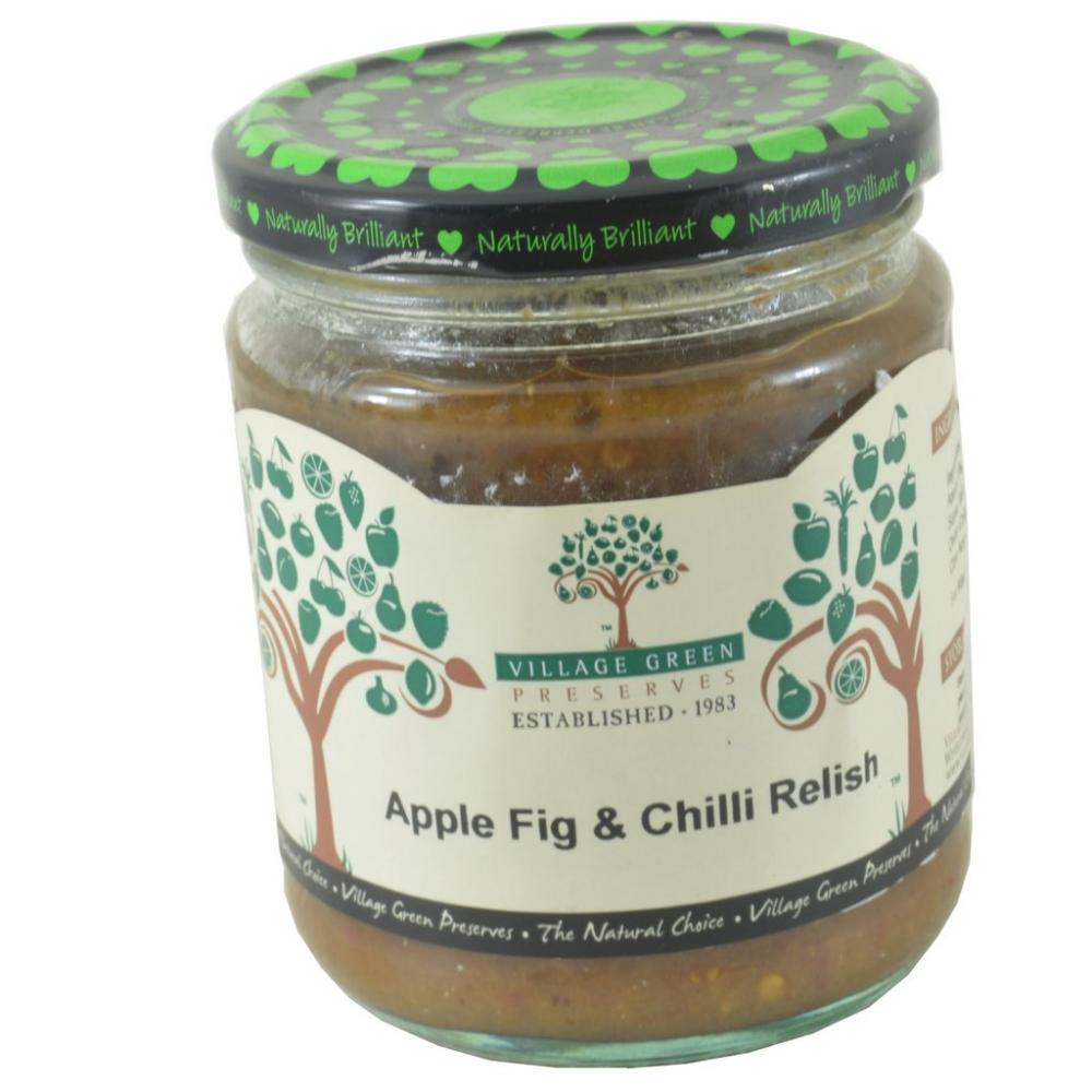 Village Green Apple Fig And Chilli Relish 280g