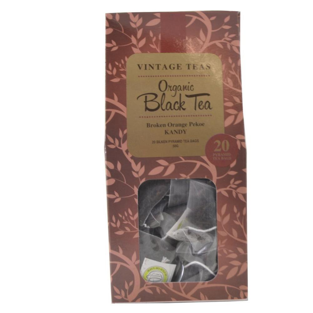 Vintage Teas Organic Black Tea 20 Pyramid Tea Bags