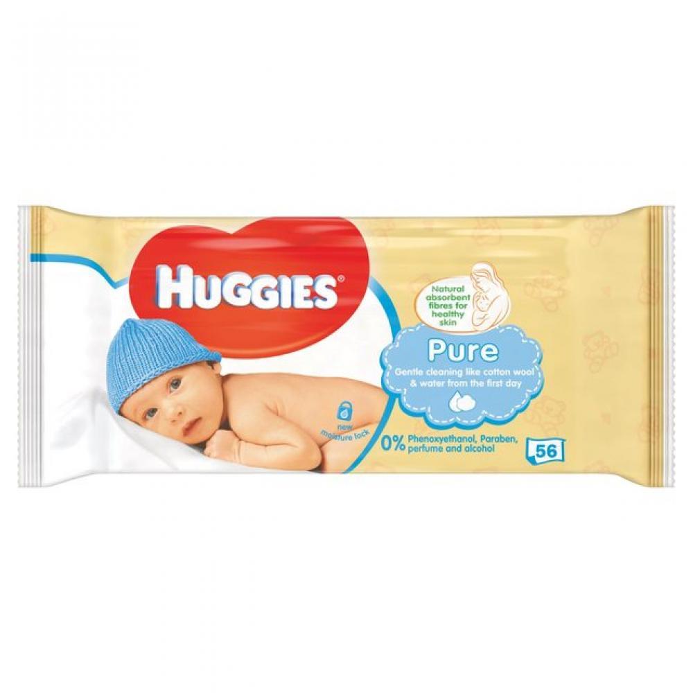 Huggies Pure Baby Wipes 56 Wipes