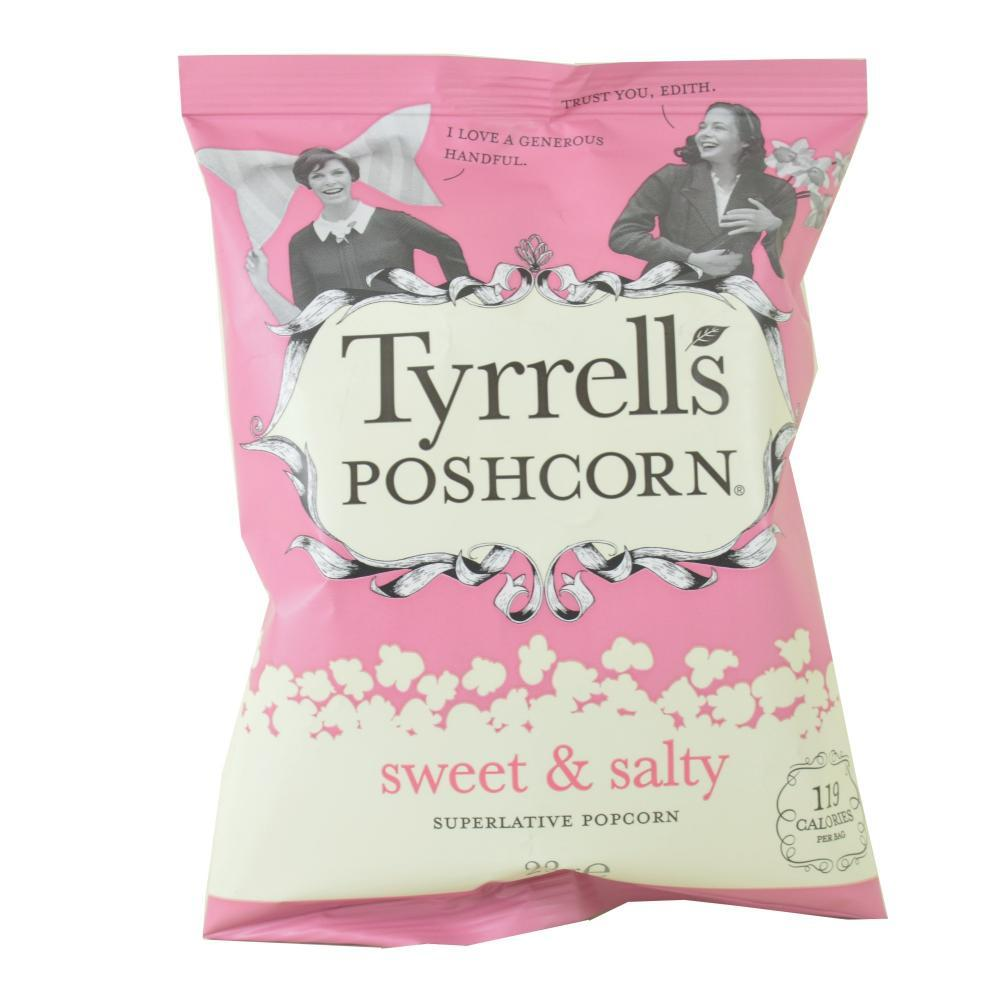 Tyrrells Sweet and Salty Popcorn 23g