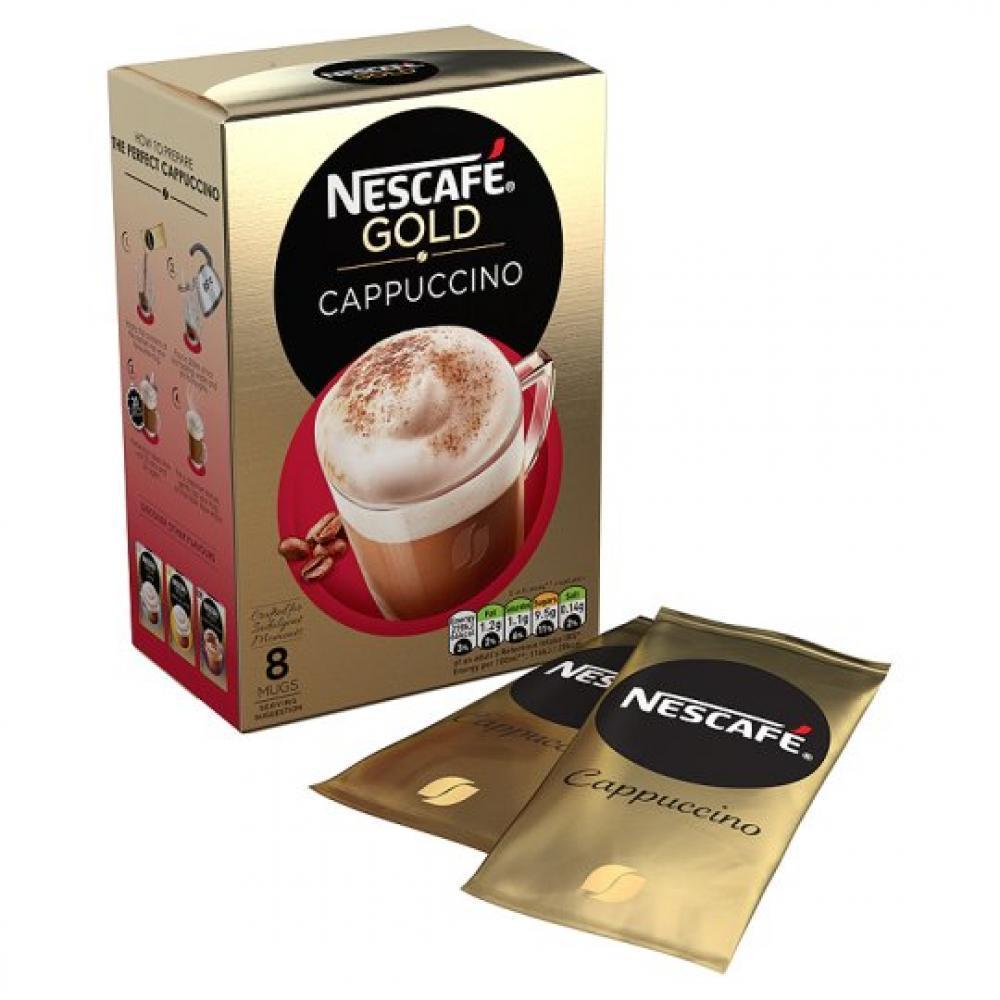 Nescafe Gold Cappuccino Coffee 8 Sachets