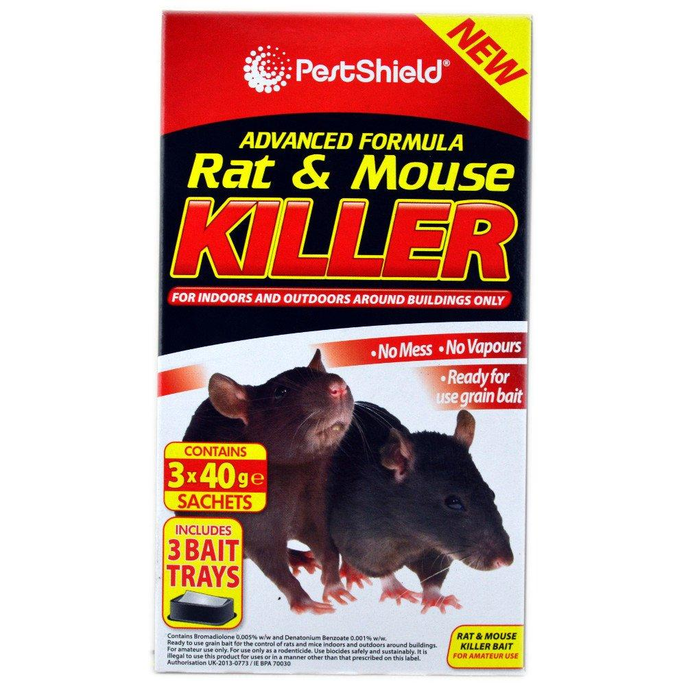 Pest Shield Rat and Mouse Killer 40g x 3