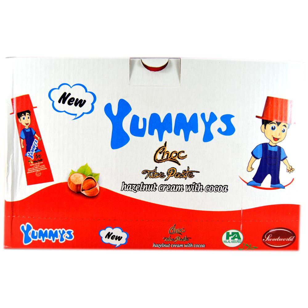 CASE PRICE  Yummys Choc Tube Paste 40g x 24