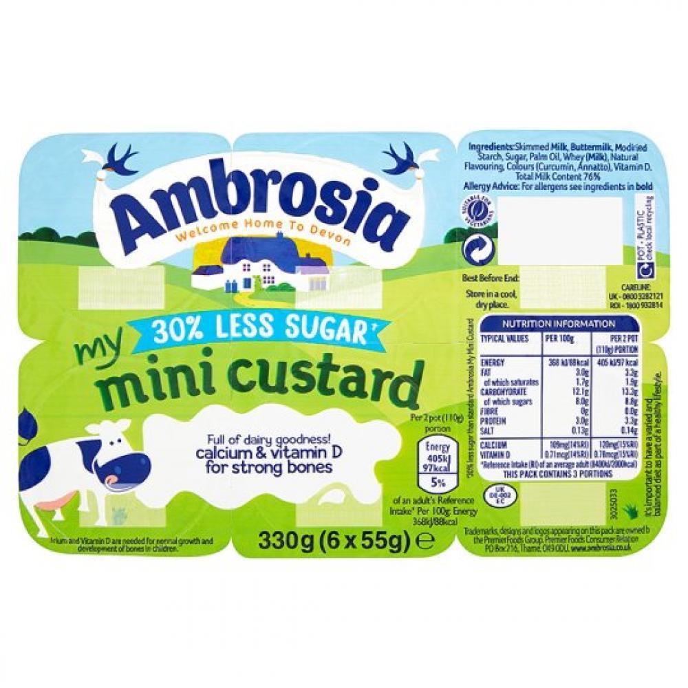 Ambrosia Mini Custard 55g x 6
