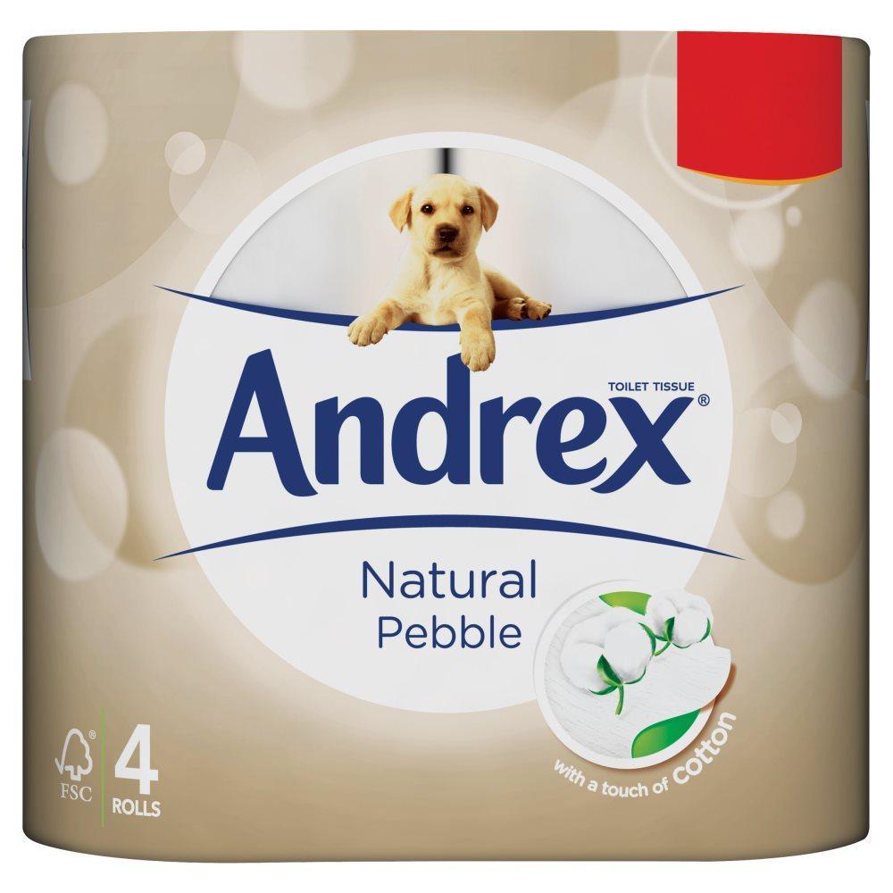 Andrex Natural Pebble Toilet Tissue 4 rolls