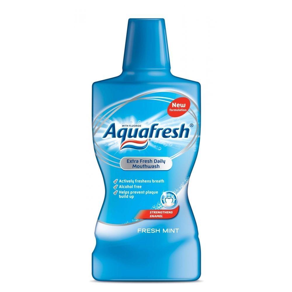 Aquafresh Extra Fresh Daily Mouthwash Fresh Mint 500ml