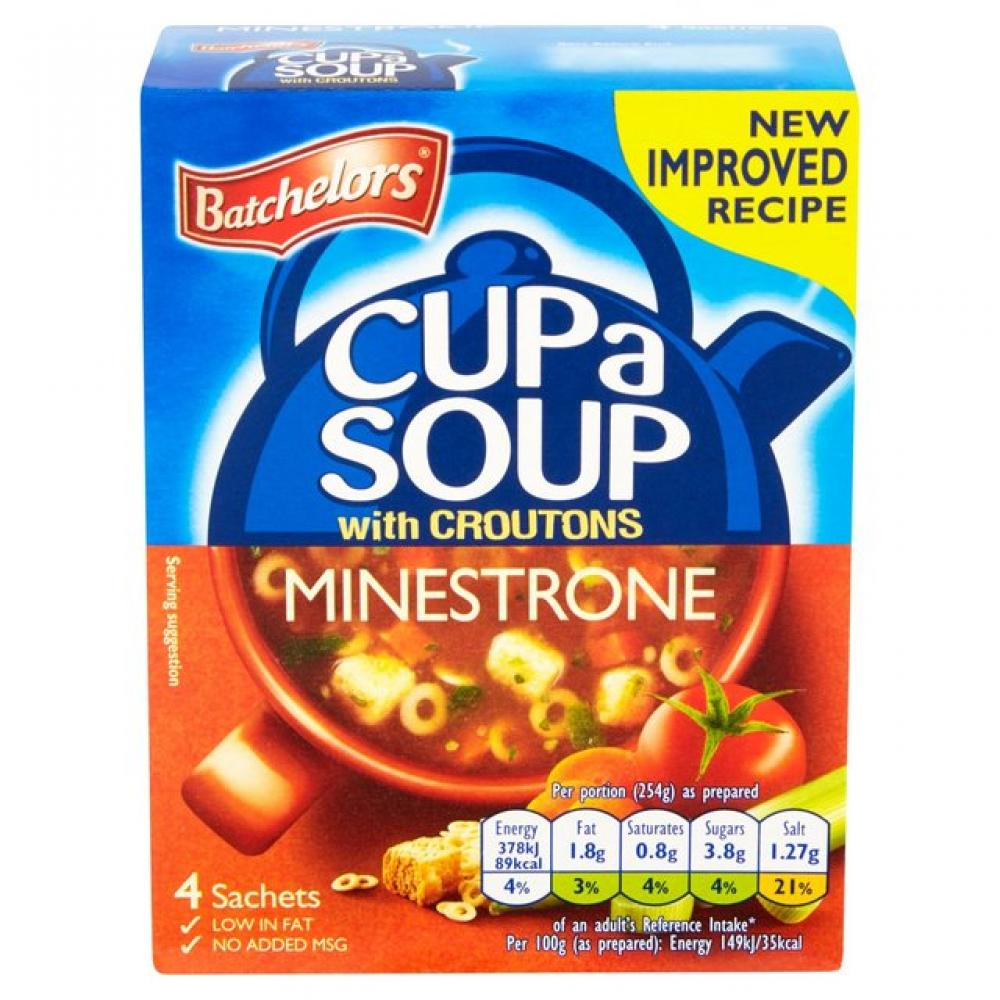Batchelors Minestrone Cup a Soup With Croutons 99g