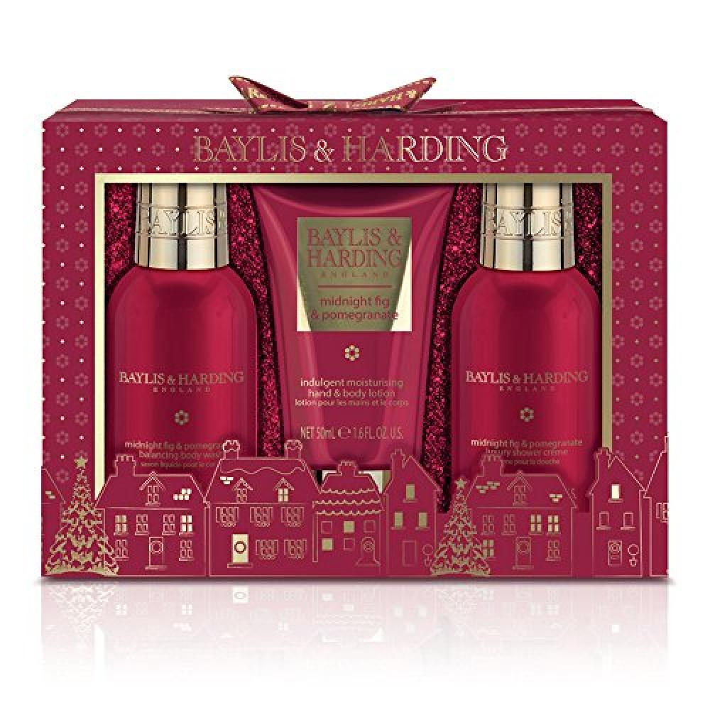 Baylis and Harding Midnight Fig and Pomegranate Trio of Treats Gift Set