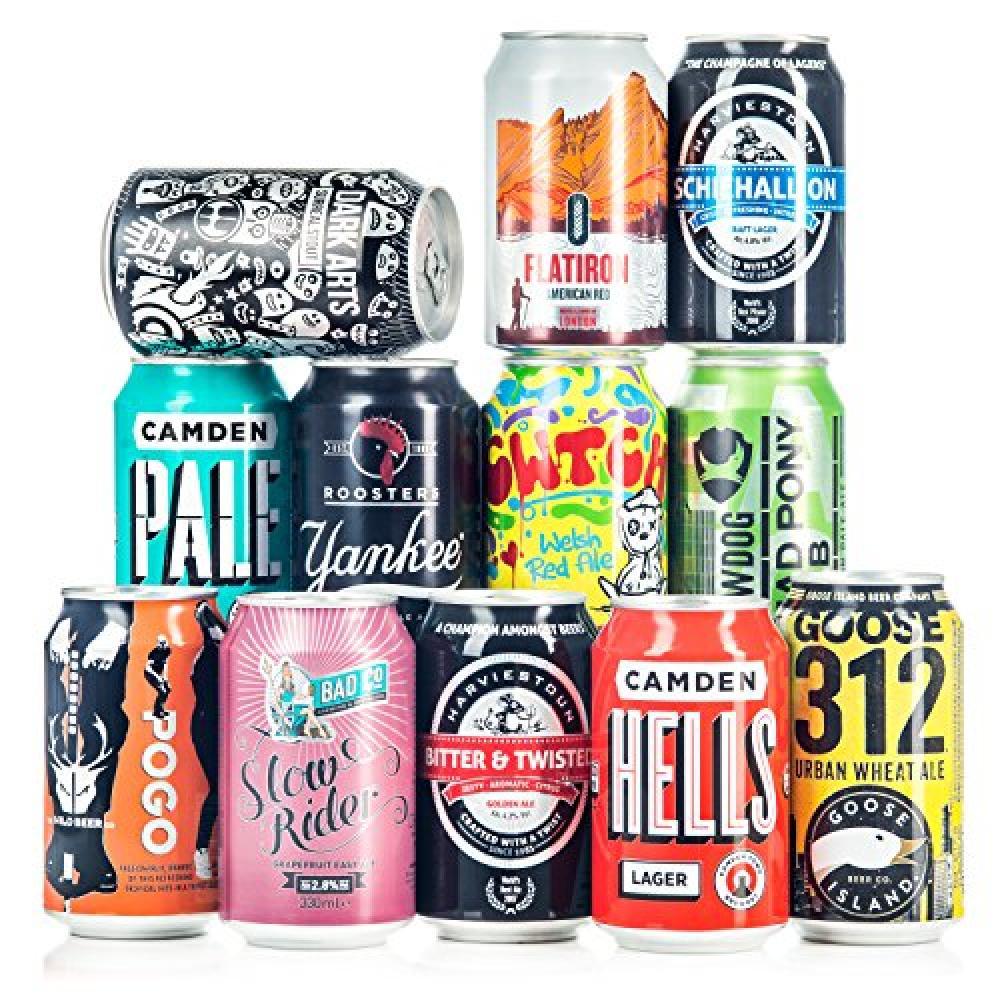 Beer Hawk Craft Beer Can Lucky Dip 33cl