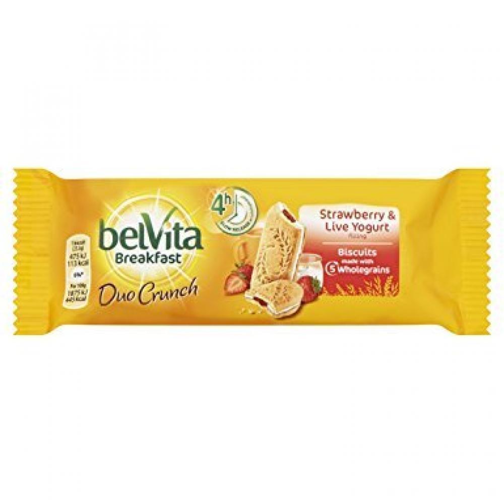 Belvita Breakfast Duo Crunch Strawberry and Live Yoghurt 51g