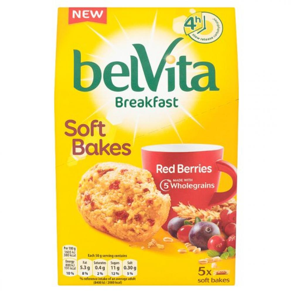 Belvita Soft Bakes Red Berries 5 Pack