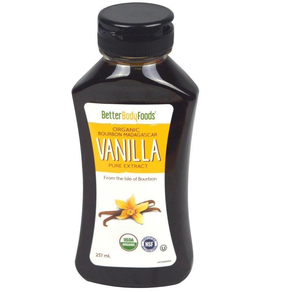 Better Body Foods Organic Bourbon Madagascar Vanilla Pure Extract 237ml
