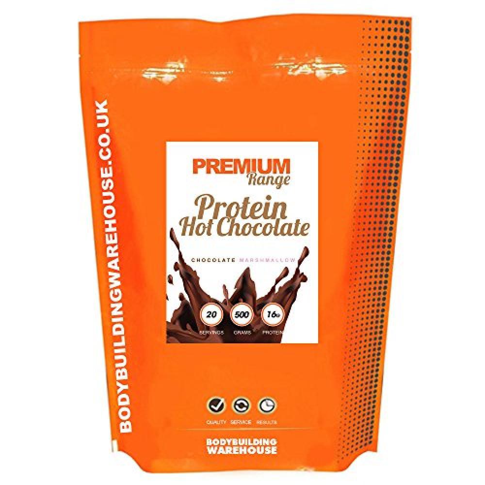 Bodybuilding Warehouse Premium Protein Hot Chocolate Powder Chocolate Mint 500 g