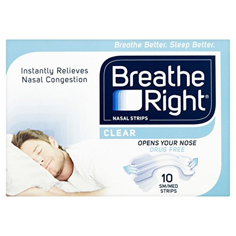 BreatheRight Right Nasal Strips SmallMedium - Clear 10 Pack