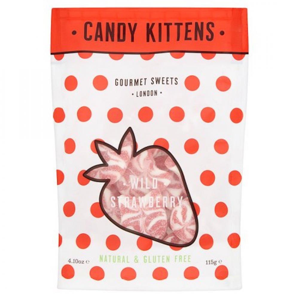 Candy Kittens Wild Strawberry Gluten Free 115g