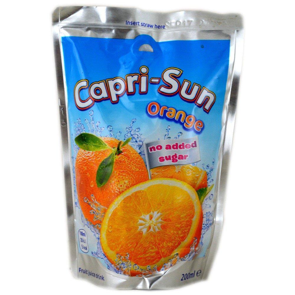 Capri Sun Orange Juice Drink No Added Sugar 200ml