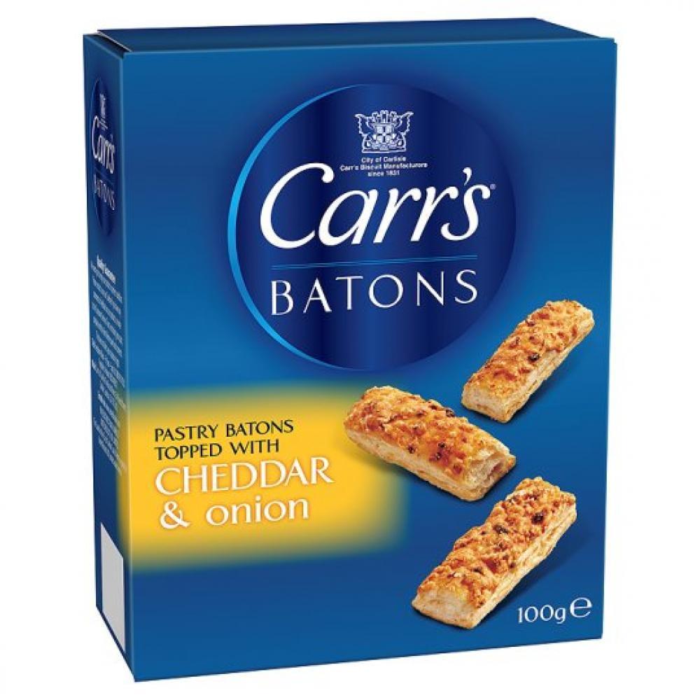 Carrs Batons Cheddar and Onion 100g
