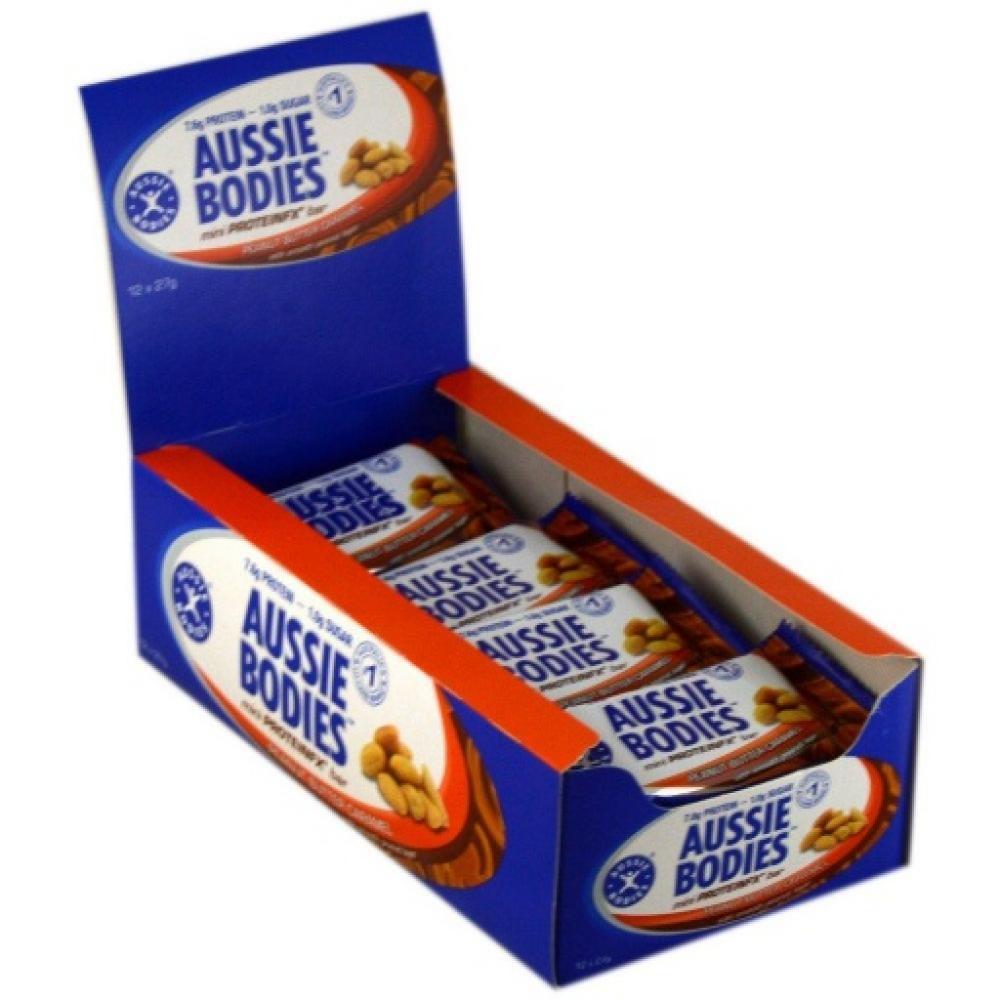 CASE PRICE  Aussie Bodies Mini ProteinFX Bar Peanut Butter Caramel 27g x 12