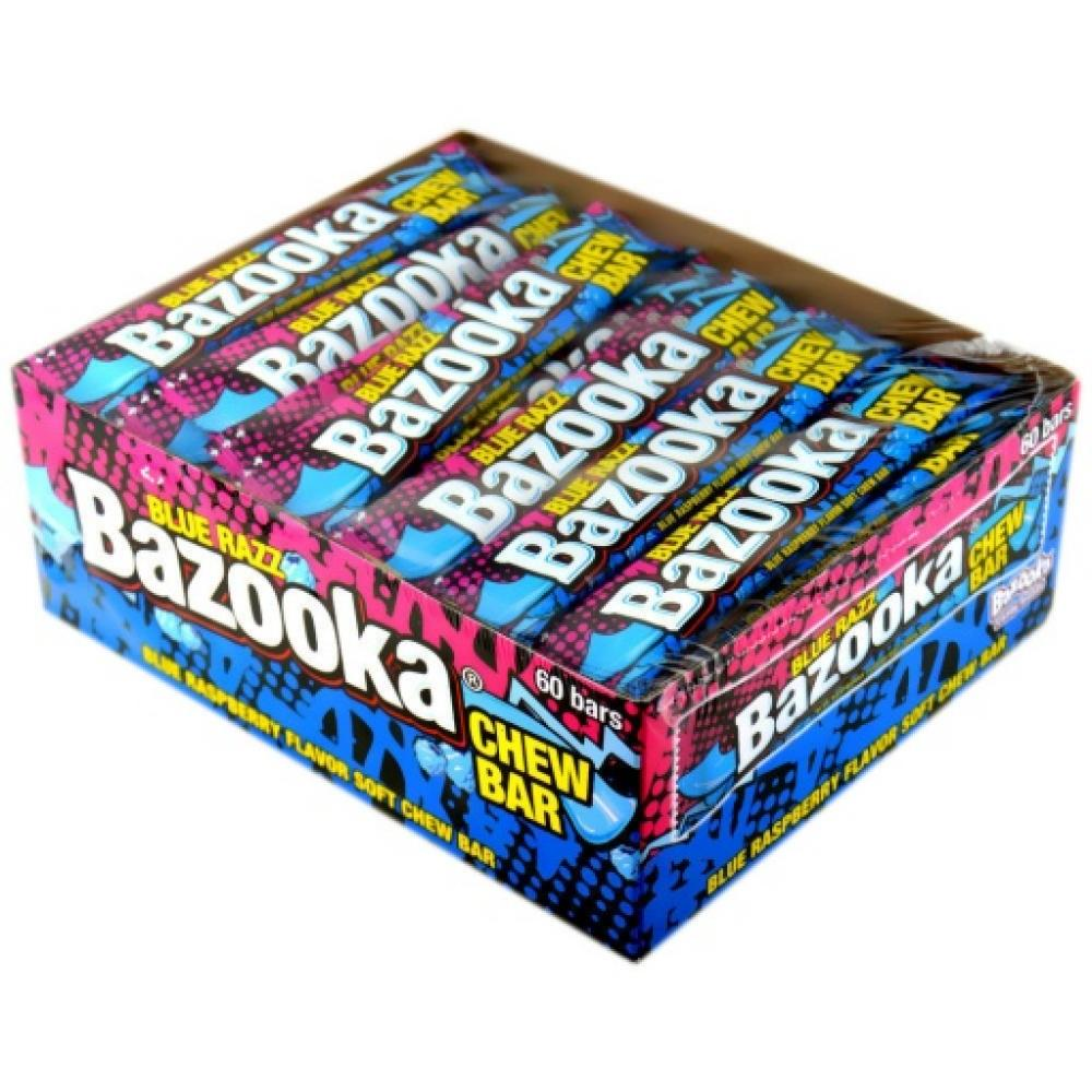 CASE PRICE  Bazooka Blue Razz Chew Bar 12g x 60