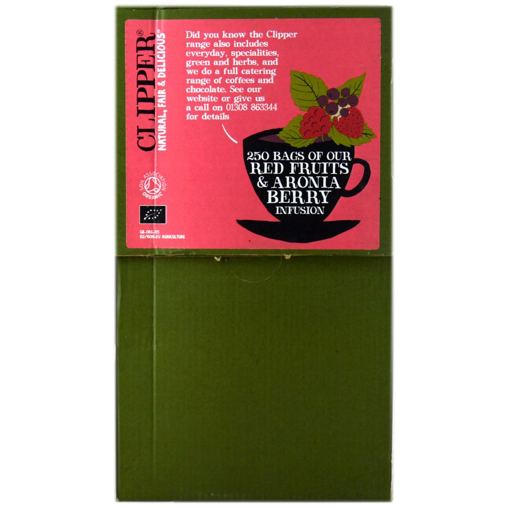 CASE PRICE  Clipper Organic Infusion Red Fruits and Aronia Berry Enveloped 250 Teabags 625g