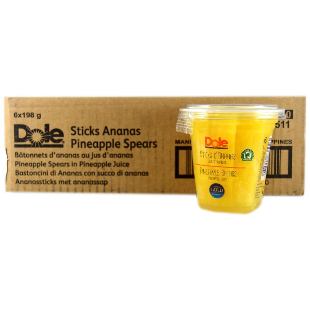 CASE PRICE  Dole Pineapple Spears in Juice 198g x 6
