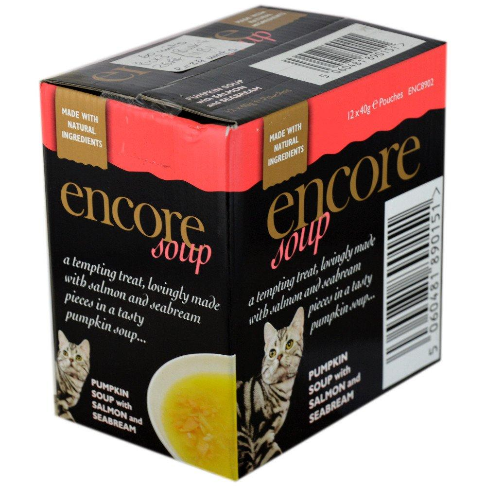 CASE PRICE  Encore Pumpkin Soup with Salmon and Seabream 40g x 12